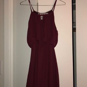 Maroon high-low elegant dress